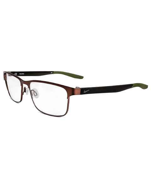 Nike 8130 Radiation Glasses Satin Walnut Medium Olive 210 - Frame Size 54-16-140