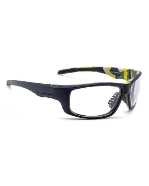 Model TP280 Wrap Around Radiation Glasses - Black Camouflage
