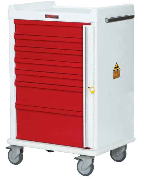 MRI Emergency Cart 7 Drawer - Standard Package with Breakaway Lock