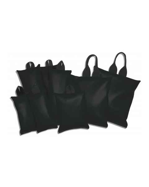 Heavy-Gauge Vinyl Sandbag General 8-Piece Set - Standard Handles - Black