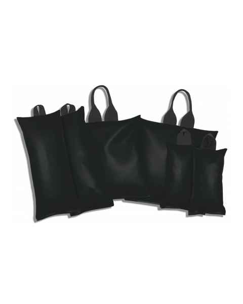 Heavy-Gauge Vinyl Sandbag General 6-Piece Set - Standard Handles - Black
