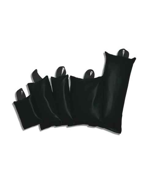Pediatric Heavy Gauge Vinyl Sandbag 5-Piece Set - Standard Handles - Black