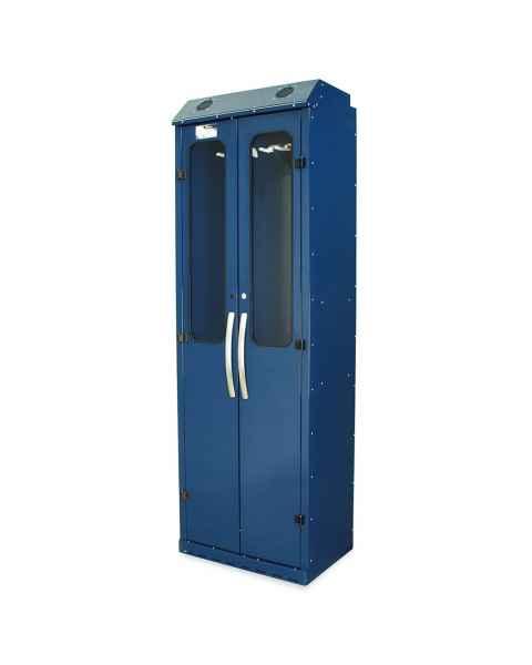 Harloff SC8030DRDP Powder Coated Steel SureDry 10 Scope Drying Cabinet - Key Locking Tempered Glass Doors