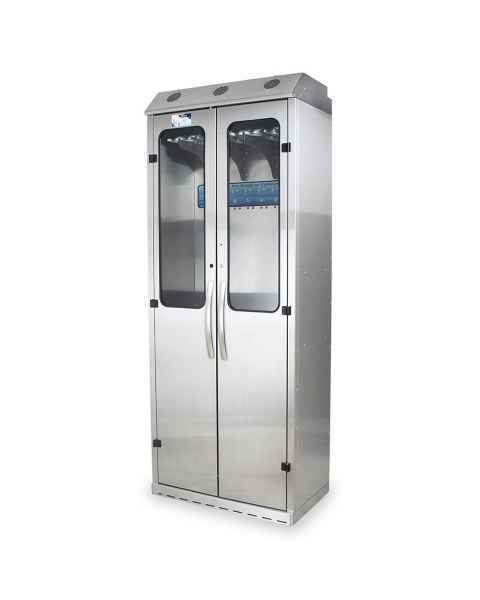 Harloff SCSS8036DRDP-DSS3316 Stainless Steel SureDry 15 Scope Drying Cabinet with Dri-Scope Aid - Key Locking Tempered Glass Doors