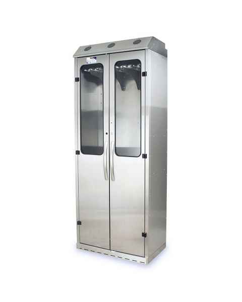 Harloff SCSS8136DRDP Stainless Steel SureDry 16 Scope Drying Cabinet - Key Locking Tempered Glass Doors
