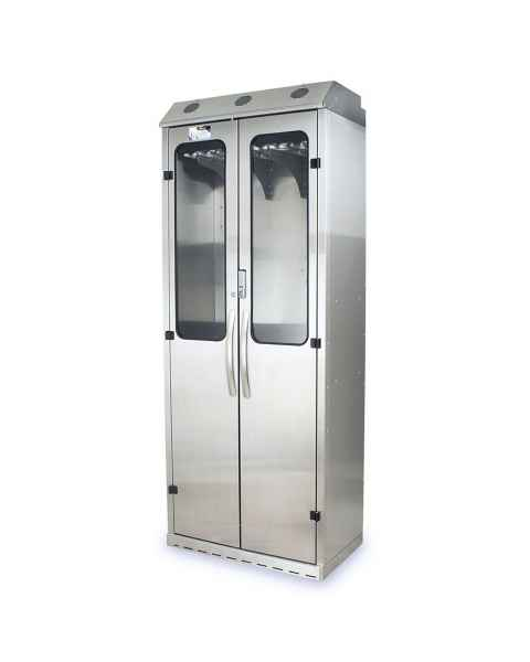 Harloff SCSS8036DREDP Stainless Steel SureDry 16 Scope Drying Cabinet - Basic Electronic Push Button Locking Tempered Glass Doors