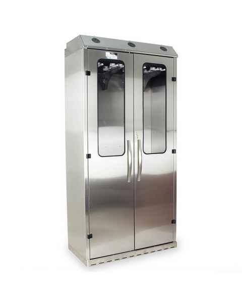 Harloff Stainless Steel SureDry High Volume 16 Scope Drying Cabinet - Key Locking Tempered Glass Doors