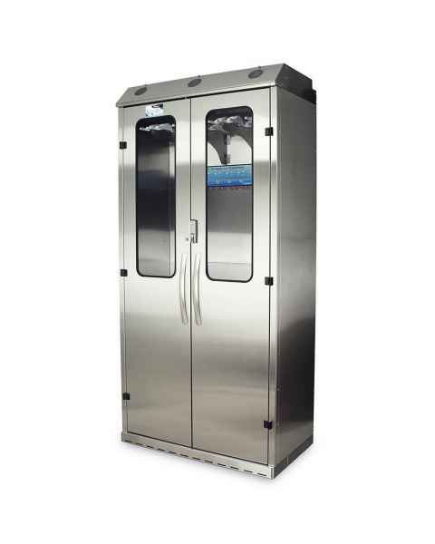 Harloff SCSS8044DREDP-DSS3316 Stainless Steel SureDry High Volume 16 Scope Drying Cabinet with Dri-Scope Aid - Basic Electronic Push Button Locking Tempered Glass Doors