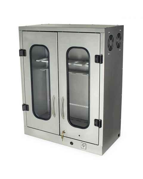 Harloff SCW2430DR Powder Coated Steel 6 ENT Scope Capacity Wall Mount Storage Cabinet - Key Lock