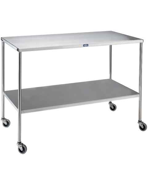 Pedigo Stainless Steel Instrument Table with Shelf