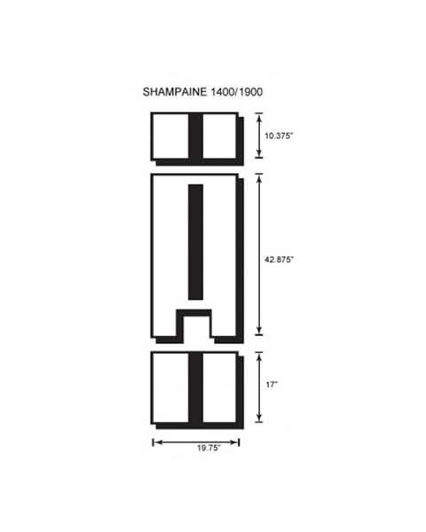 Shampaine/MDT/Getinge 1400-1900 3 Piece Table Pad Set