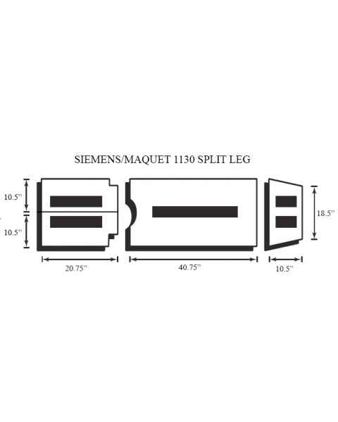 Siemens/Maquet 1130 4 Piece Table Pad Set - Split Leg