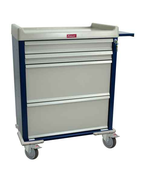 Harloff SL100DSPN Standard Line DISPILL® Compatible Medication Cart with Key Lock, Internal Narcotics Box