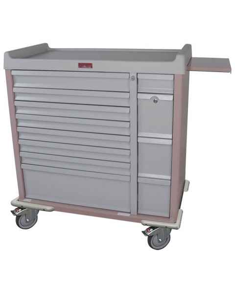 Harloff SL294BOX Standard Line 294 Unit-Dose Box Medication Cart with Key Locks