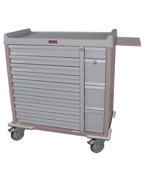 Harloff SL420BOX Standard Line 420 Unit-Dose Box Medication Cart with Key Locks