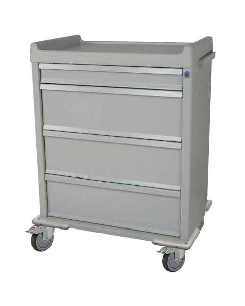 Harloff SL555PC Standard Line 550 Punch Card Medication Cart with Key Lock, Without Locking Narcotics Box