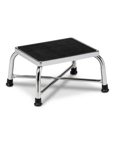 Clinton Model T-6142 Chrome Bariatric Single Step Stool