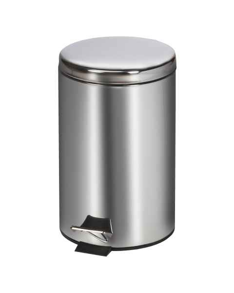 Clinton Model TR-13S Small Round Stainless Steel Waste Receptacle - 13 Quart (3.25 Gal)