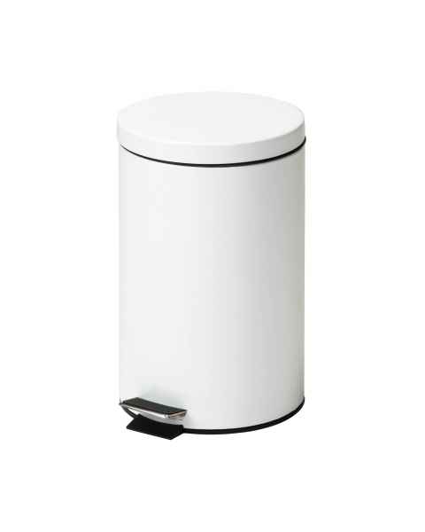 Clinton Model TR-13W Small Round White Waste Receptacle - 13 Quart (3.25 Gal)