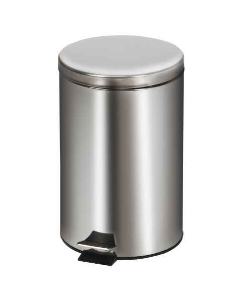 Medium Round Stainless Steel Waste Receptacle - 20 Quart (5 Gal)