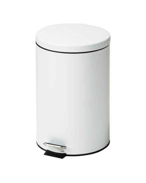 Clinton Model TR-20R Medium Round White Waste Receptacle - 20 Quart (5 Gal)