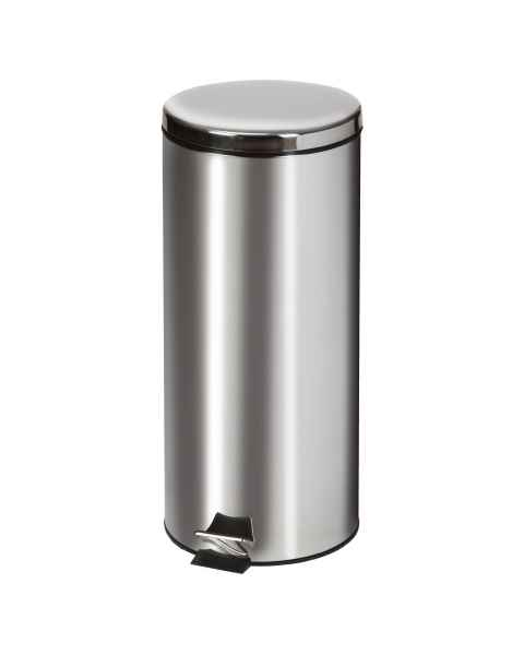 Large Round Stainless Steel Waste Receptacle - 32 Quart (8 Gal)