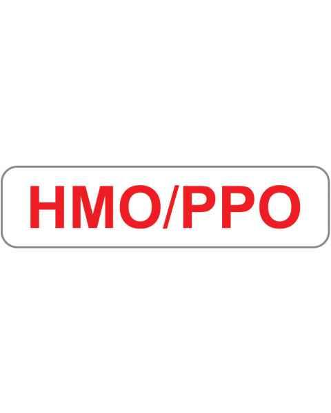 "HMO/PPO Label - Size 1 1/4""W x 5/16""H"