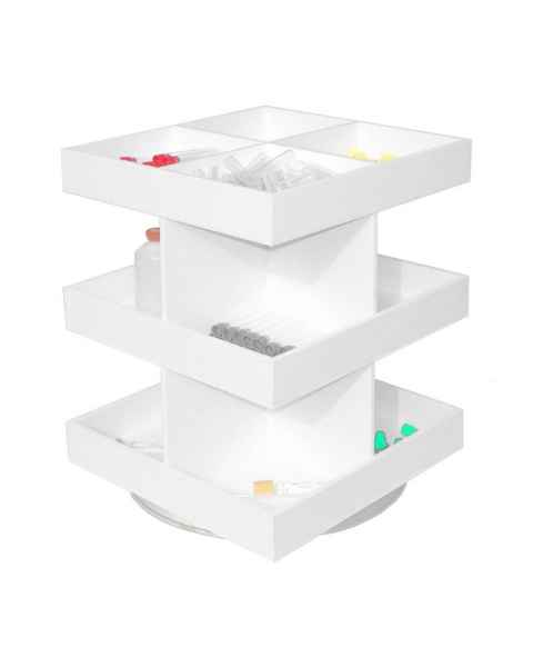 Three Tier Rotating Shelf