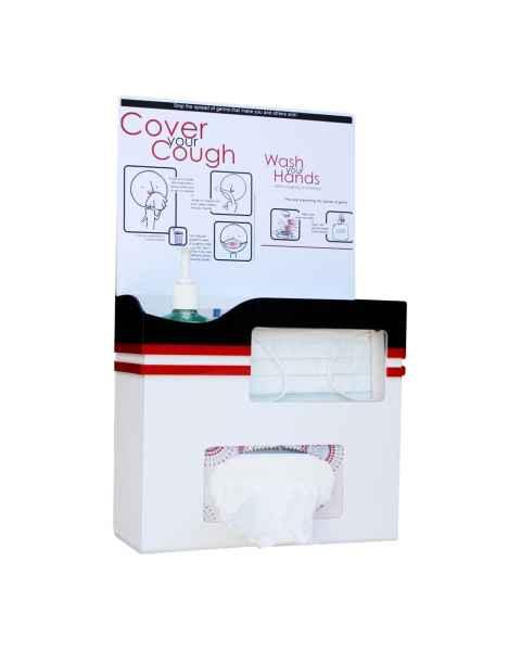 Model UM3205 Children's Hygiene Center - White ABS and Black/Red Acrylic