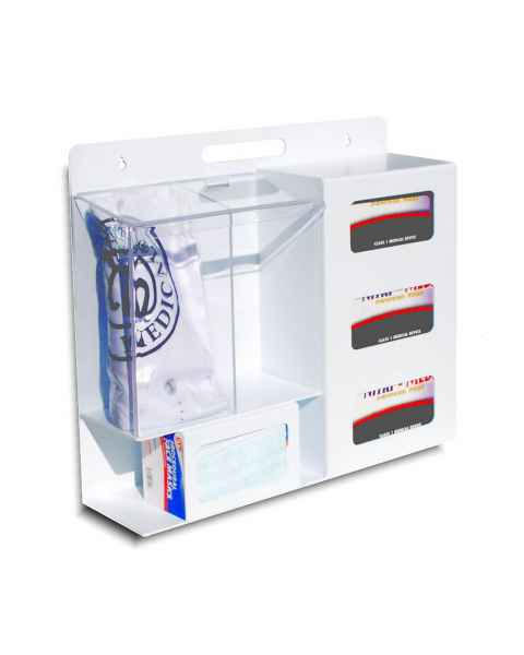 UM3220-WABS Personal Protection Station (2 Clear Pockets)