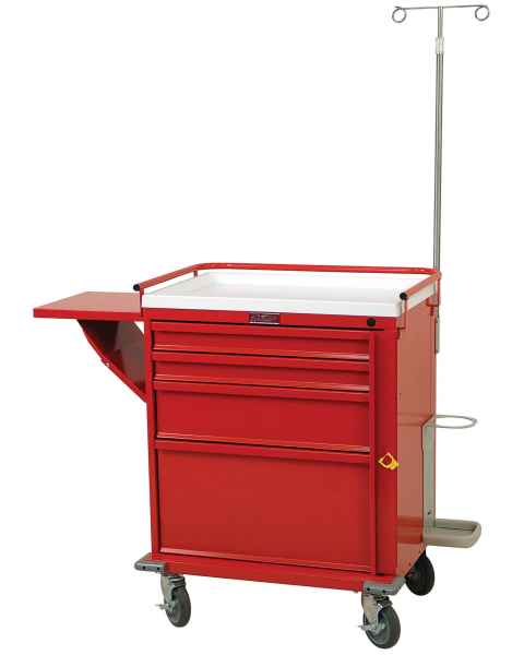 Harloff V24-4EMG2 Emergency Cart 4 Drawer Breakaway Lock Deluxe Package
