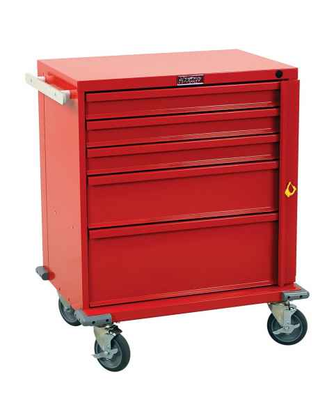 Harloff V24-5B V-Series Short Emergency Cart 5 Drawer Breakaway Lock