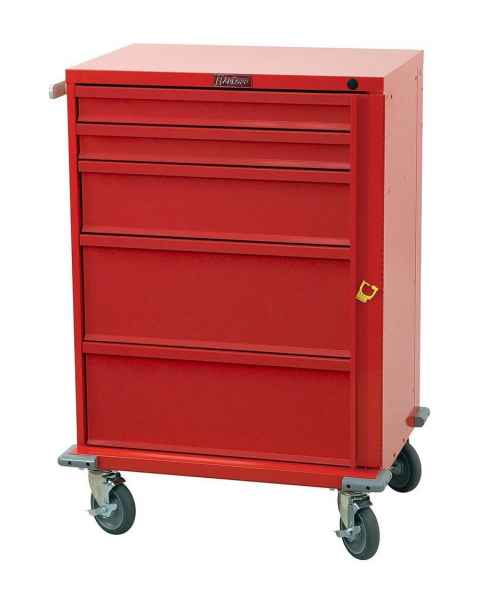 Harloff V30-5B V-Series Tall Emergency Cart 5 Drawer Breakaway Lock