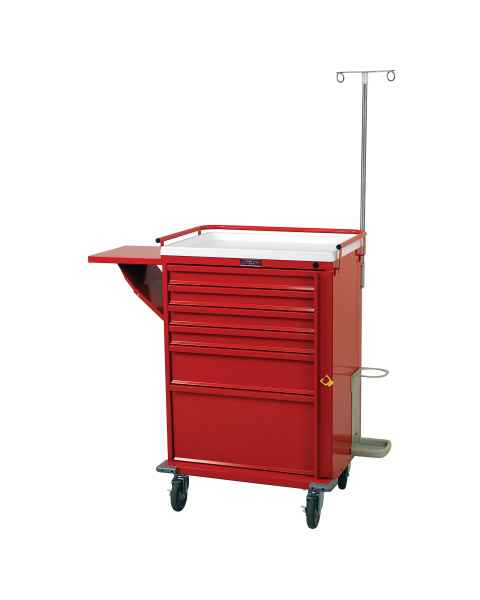 Harloff V30-6EMG2 V-Series Emergency Cart Six Drawer with Breakaway Lock & Deluxe Emergency Accessory Package