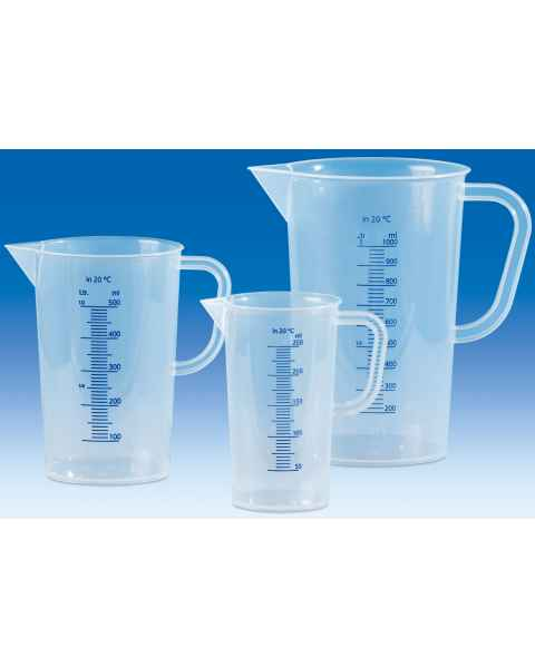 BrandTech VITLAB Graduated Pitchers with Blue Molded Graduations - Polypropylene (PP)