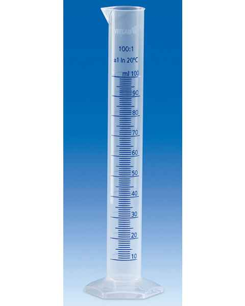 BrandTech VITLAB Graduated Cylinders - Class B - Polypropylene (PP) - Blue Scale
