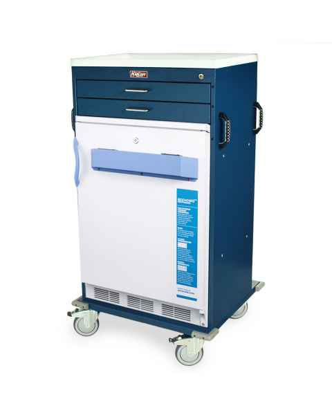 Harloff Model VF4250K-AC Mobile Vaccine Freezer Cart with 3.2 Cubic Feet Freezer, Two Drawers, Key Lock