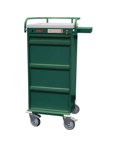 Harloff VLT240PC-EKC Value Line 240 Punch Card Medication Cart with CompX Electronic Lock, Locking Narcotics Box