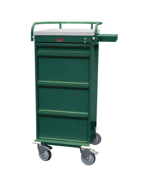 Harloff Value Line 240 Punch Card Medication Cart with Key Lock, Without Locking Narcotics Box