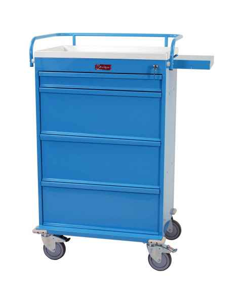 Harloff VLT360PC Value Line 360 Punch Card Medication Cart with Key Lock, Locking Narcotics Box
