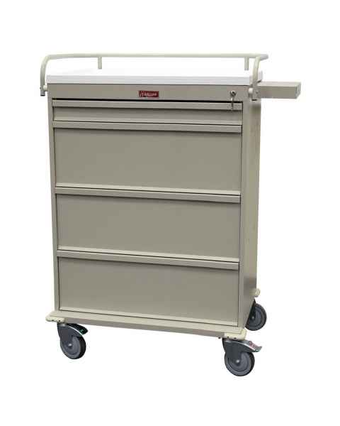 Harloff Value Line 480 Punch Card Medication Cart with Key Lock, Without Locking Narcotics Box
