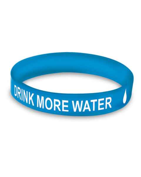 Nasco Drink More Water Wristbands - Pack of 50