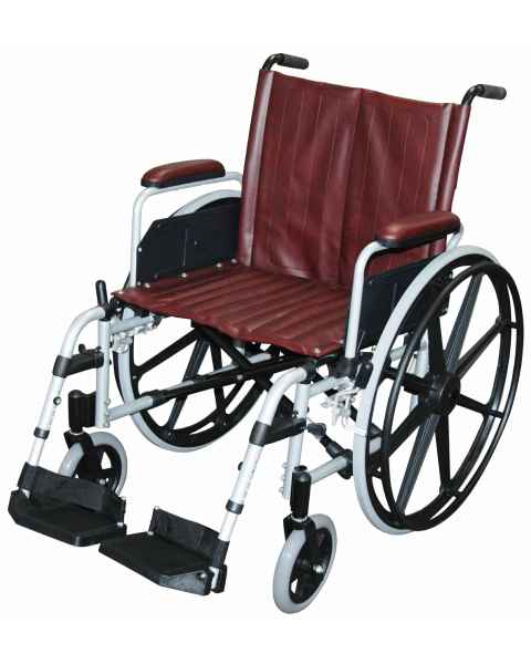 "20"" Wide Aluminum Non-Ferromagnetic Wheelchair"