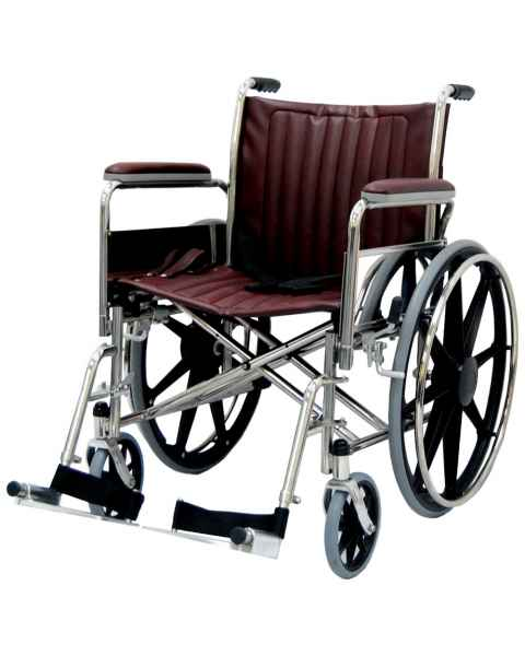 "20"" Wide Non-Magnetic Wheelchair with Detachable Footrests"
