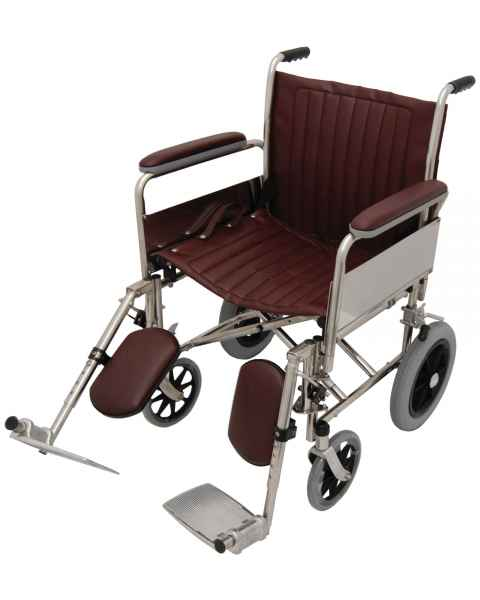 "20"" Wide Non-Magnetic Transport Chair With Detachable Elevating Legrests"
