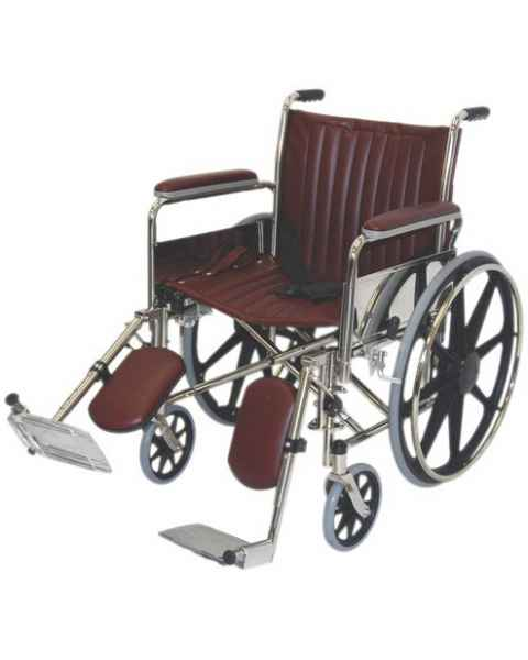 "20"" Wide Non-Magnetic Wheelchair with Detachable Elevating Legrests"