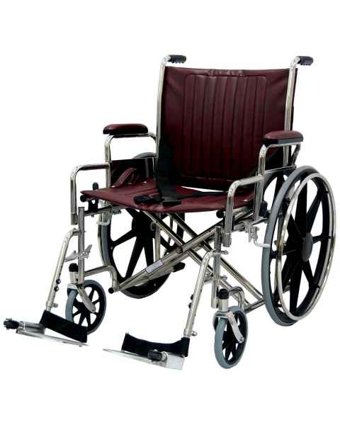 "22"" Wide Non-Magnetic Wheelchair with Detachable Footrest"