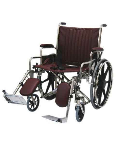 "22"" Wide Non-Magnetic Wheelchair with Detachable Elevating Legrests"