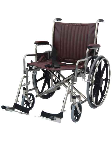 "24"" Wide Non-Magnetic Wheelchair with Detachable Footrest"