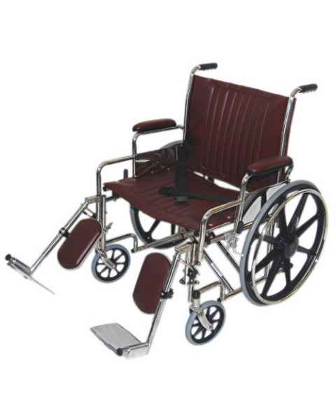 "24"" Wide Non-Magnetic Wheelchair with Detachable Elevating Legrests"